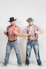 two beautiful men cowboy.