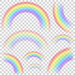 Set of transparent rainbows