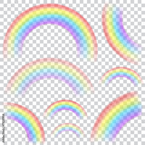Set of transparent rainbows - 79281904