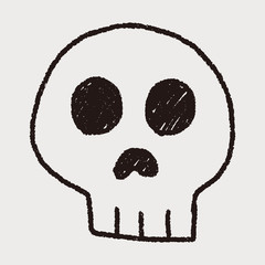skull doodle drawing