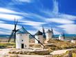 Leinwandbild Motiv Group of windmills