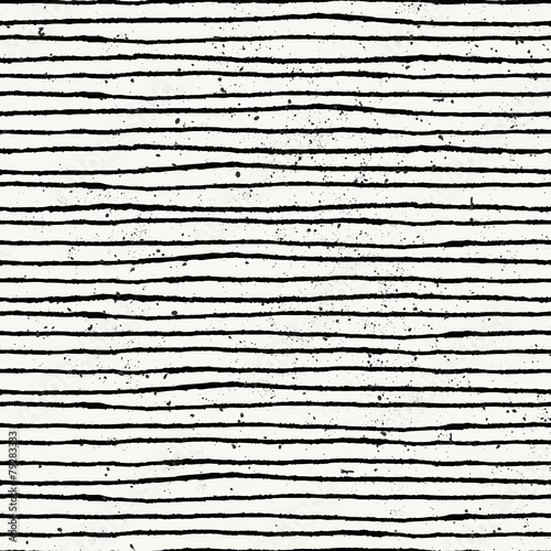 Hand Drawn Abstract Seamless Pattern - 79283333