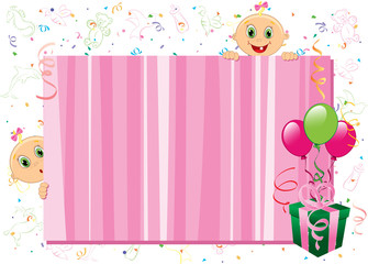 Baby girl pink frame