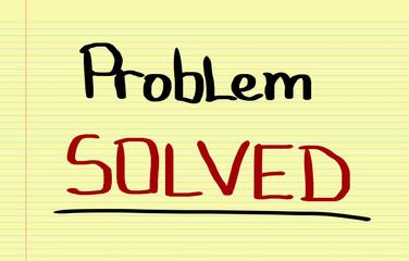 Problem Solved Concept