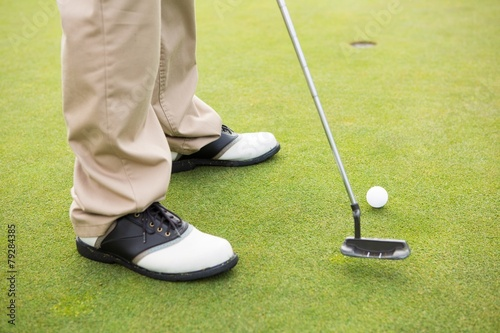 Fototapeta Golfer about to tee off