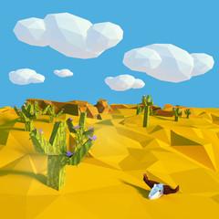 Kuhschädel in der trockenen Wüste