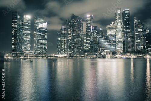 Aluminium Singapore Singapore night skyline
