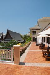 outdoor architecture design of Thai town