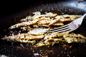 Sprat, capelin fried