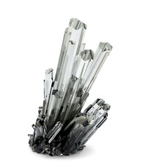3d Crystal illustration. Isolated. Contains clipping path