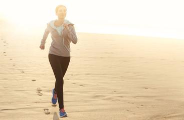 Beautiful woman running
