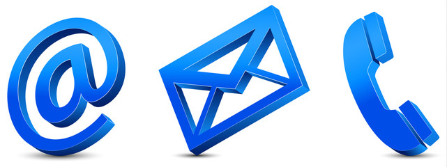Contact Us – Blue Icons 3D