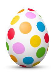 Osterei, Ostern, Ei, bemalt, Punkte, gepunktet, Easter Egg, 3D