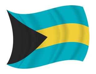 Bahamas flag waving vector