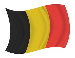 Belgium flag waving vector