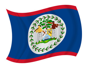 Belize flag waving vector
