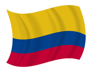 Colombia flag waving vector
