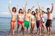 Sexy Menschen am Strand