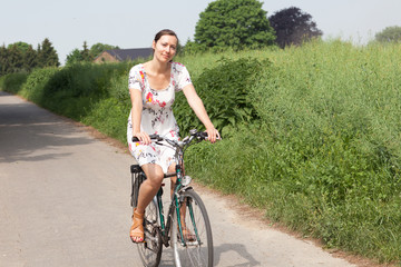 Happy biking in summer