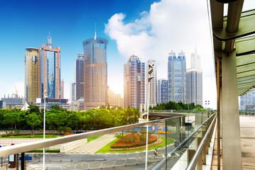 Skyscrapers in Shanghai, China