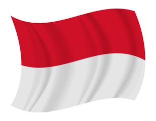 Indonesia flag waving vector