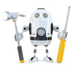 Robot worker. Technology concept. Isolated. Clipping path