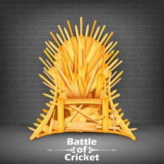 Throne made of Cricket bats