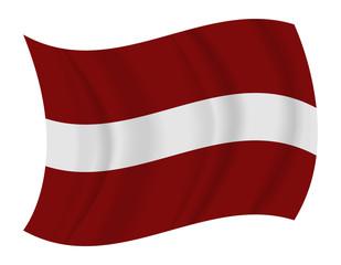 Latvia flag waving vector