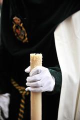 Cirio en la mano, Semana Santa, España