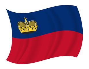 Liechtenstein flag waving vector
