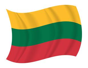 Lithuania flag waving vector