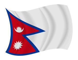 Nepal flag waving vector