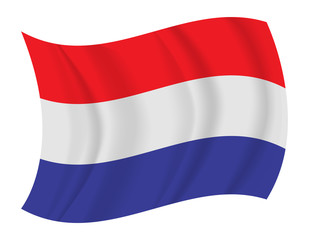 Netherlands flag waving vector