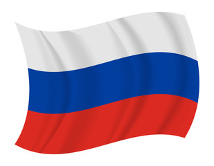 Russia flag waving vector