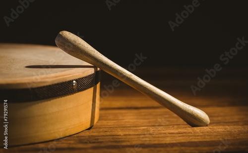 Traditional Irish bodhran and stick - 79291574