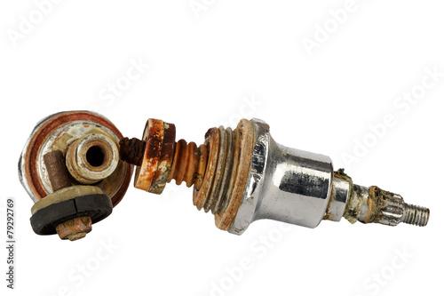 Leinwanddruck Bild Used valves