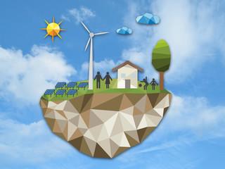 Low poly-énergies renouvelables