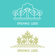 Vector trees and parks logo design elements