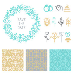 Vector save the date design template