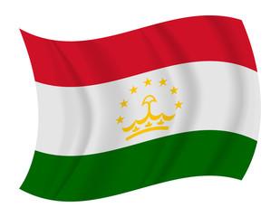 Tajikistan flag waving vector