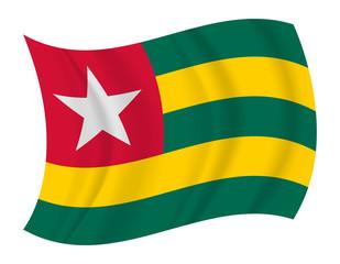Togo flag waving vector