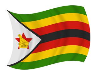 zimbabwe flag waving vector
