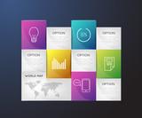 Infographic, brochure, flat