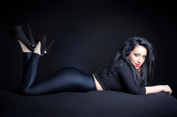 Sexy Woman In Provocative Pose
