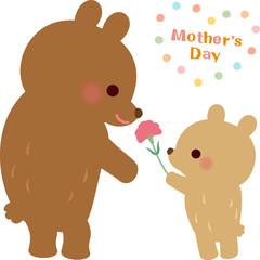母の日のクマの親子