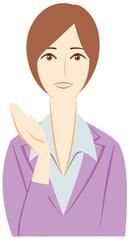 ビジネスパーソン:「ご案内」する女性会社員