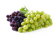 Ripe juicy grapes isolated on a white.