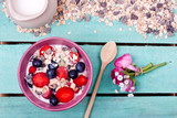 muesli with fruits