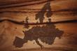 Europakarte auf Holz