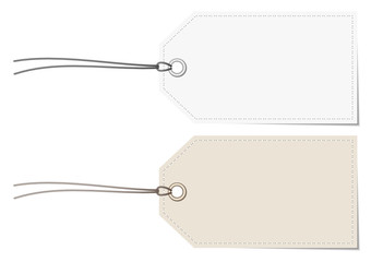 2 Label Stitching Border White/Beige